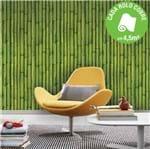 Ficha técnica e caractérísticas do produto Papel de Parede Vinilizado Bambu Verde Rolo com 10m