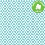 Papel de Parede Vinilizado Caribbean Branco e Azul Rolo com 10m
