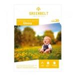 Ficha técnica e caractérísticas do produto Papel Fotográfico Adesivo Glossy 180g Greenbelt A4 20 Folhas