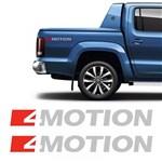 Par de Adesivos Amarok 4 Motion 2017 Emblema Lateral Prata - Sportinox