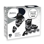 Patins Rollers InLine Aluminium 500 Preto Bel Sports