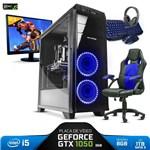 Pc Gamer Completo SmaRt Pc SMT81070 I5 8GB (Geforce GTX 1050 2GB) 1TB + Cadeira Gamer - Neologic