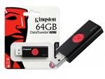Ficha técnica e caractérísticas do produto Pen Drive Usb 3.0 Kingston Dt106/64gb 106