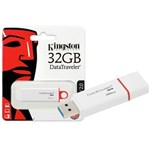 Ficha técnica e caractérísticas do produto Pen Drive USB 3.0 Kingston Dtig4/32Gb Datatraveler 32Gb Generation 4 Vermelho