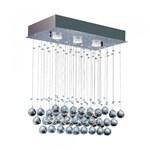 Ficha técnica e caractérísticas do produto Pendente Cristal Ball Retangular para 3 Lâmpadas GU10 Bronzearte