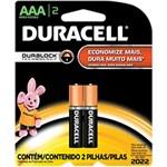 Pilha Alcalina AAA C/ 2unid. - Duracell