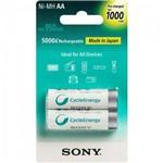 Pilha Recarregavel Aa com 2 1000MAH Nimh Nh-Aa B2RN Sony