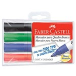 Pincel P/Quadro Branco C/4 Cores Sortidas - Faber Castell