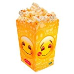 Ficha técnica e caractérísticas do produto Pipoqueira Grande Emoji C/08 Unidades