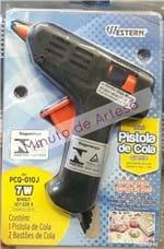 Ficha técnica e caractérísticas do produto Pistola de Cola Quente Pequena
