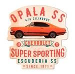 Ficha técnica e caractérísticas do produto Placa Decorativa de Madeira Opala 1971 Laranja Urban