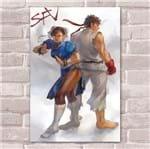 Ficha técnica e caractérísticas do produto Placa Decorativa Street Fighter 37