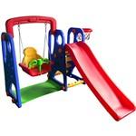 Playground Completo Criança Feliz Barzi Motors Escorregador Balanço e Cesta de Basquete - de 2 a 4 Anos