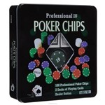 Poker Chips Profissional 100 Fichas Numerada