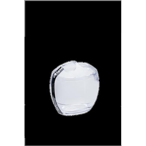Ficha técnica e caractérísticas do produto Porta-Escova com Tampa - Spoom 10,6 X 8,5 X 10,6 Cm Cristal Coza