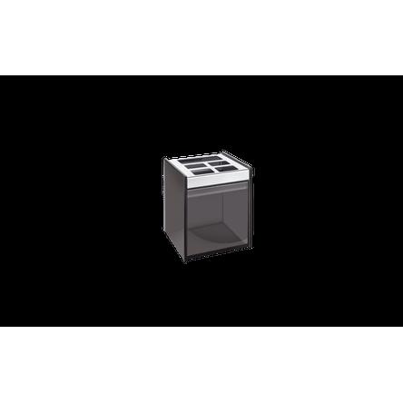 Ficha técnica e caractérísticas do produto Porta Escova/Creme Dental - Quadrata 8 X 11,5 Cm Fumê Brinox