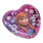 Prato de Papelão Descartável Coração Frozen Disney Pacote com 8 Unidades Regina