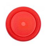 Ficha técnica e caractérísticas do produto Prato Descartável para Bolo Vermelho 15cm C/10 - Trik Trik - Trik-trik