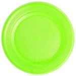 Ficha técnica e caractérísticas do produto Prato Descartável Sobremesa Color Plástico Verde - 10 Unidades