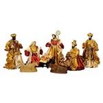 Ficha técnica e caractérísticas do produto Presépio Magizi Plus Seda 8 Figuras 25 Cm Vinho / Creme 17902