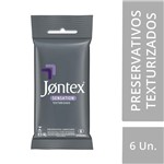 Ficha técnica e caractérísticas do produto Preservativo Jontex Lubrificado Sensation 6 Unidades