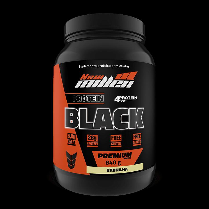 Ficha técnica e caractérísticas do produto Protein Black 4w (840g) New Millen-Chocolate
