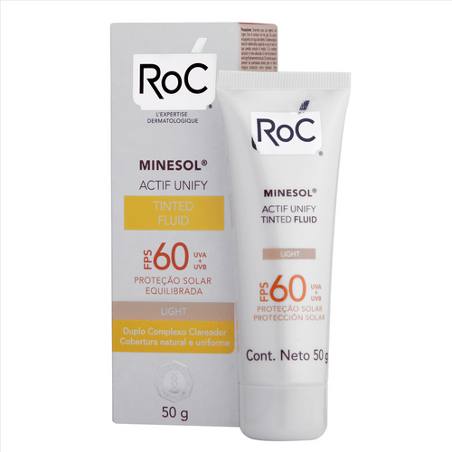 Ficha técnica e caractérísticas do produto Protetor Solar Facial Roc Minesol Actif Unify Tinted Fluid Light FPS60 50g
