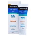 Ficha técnica e caractérísticas do produto Protetor Solar Neutrogena® Sun Fresh Facial Controle de Brilho com Cor Fps 60 50ml