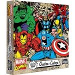 Quebra-Cabeça Game Office Marvel Comics 500 Peças