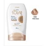 Ficha técnica e caractérísticas do produto Rainha Solar – Bloqueador Facial Cor de Base Claro Fps-30 60G - 3438