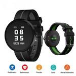 Relógio Bluetooth Smartwatch Pressão Sanguínea, Batimentos Cardíacos H09s Cavo Preto/Cinza