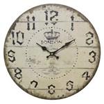 Ficha técnica e caractérísticas do produto Relógio de Parede em Madeira London Ø34cm
