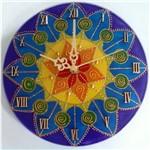 Ficha técnica e caractérísticas do produto Relógio de Parede Mandala Colorida de 20cm