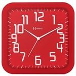 Relógio de Parede Moderno Analógico Mecanismo Step Herweg Vermelho