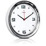 Relógio de Parede Quartz Cromado - Herweg