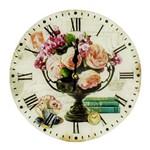 Ficha técnica e caractérísticas do produto Relógio de Parede Redondo de Vidro 30cm