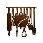 Ficha técnica e caractérísticas do produto Relógio Decorativo - Modelo Cozinha - ME Criative - Tabaco Envelhecido
