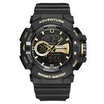 Ficha técnica e caractérísticas do produto Relógio Masculino Weide AnaDigi WA3J8002 - Preto e Dourado
