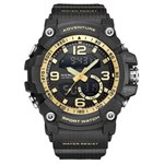 Ficha técnica e caractérísticas do produto Relógio Masculino Weide AnaDigi WA3J8001 - Preto e Dourado