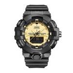 Ficha técnica e caractérísticas do produto Relógio Masculino Weide AnaDigi WA3J8006 - Preto e Dourado