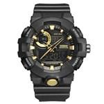 Ficha técnica e caractérísticas do produto Relógio Masculino Weide AnaDigi WA3J8007 - Preto e Dourado