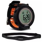 Ficha técnica e caractérísticas do produto Relógio Monitor Cardíaco Cinta Conta Passos Calorias Sono Es049