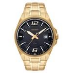 Relógio Orient Masculino Dourado Mgss1168 G2kx