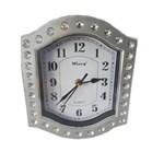 Ficha técnica e caractérísticas do produto Relógio Parede Prata