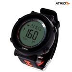 Ficha técnica e caractérísticas do produto Relógio Sport Monitor Cardíaco Fortius Preto com Cinta Es049 ? Atrio