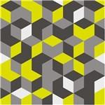 Ficha técnica e caractérísticas do produto Revestimento Adesivo Geométrico Amarelo e Cinza