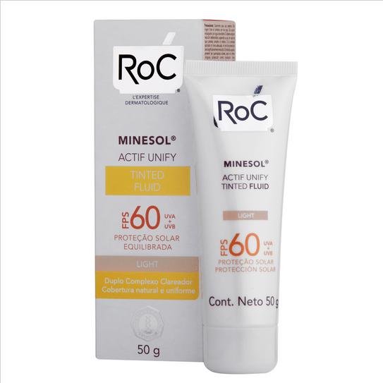 Ficha técnica e caractérísticas do produto Roc Minesol Protetor Solar Actif Unify Tinted Fluid Light Fps60 50g