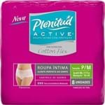 Ficha técnica e caractérísticas do produto Roupa Íntima Plenitud Active Mulher Cotton Flex P/M 8 Unidades