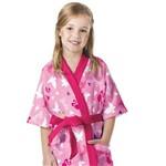 Roupão Infantil Felpudo P Barbie Reino do Arco-íris - Lepper
