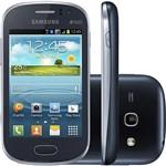 """Smartphone Samsung Galaxy Fame Duos Dual Chip Desbloqueado Android 4.1 Tela 3.5"""" 3G Wi-Fi Câmera 5 MP - Grafite"""